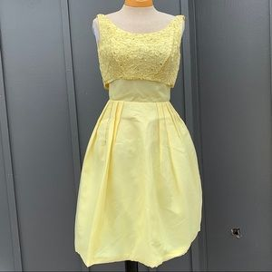 1950's Yellow Party Dress